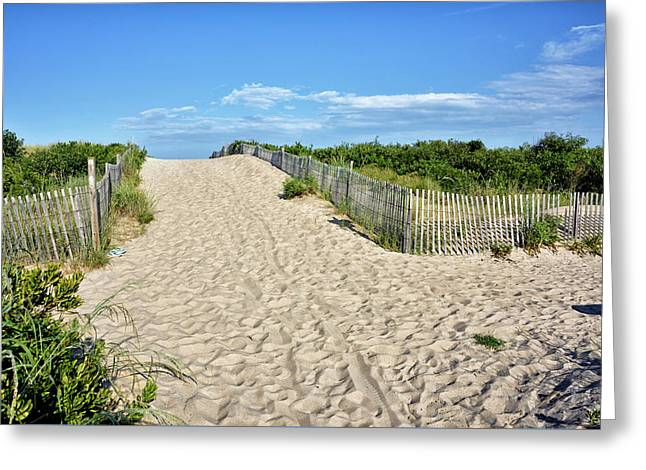Greeting Card featuring the photograph Pathway To The Beach - Delaware by Brendan Reals