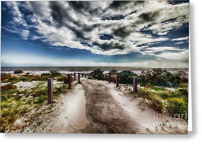 Greeting Card featuring the photograph Pathway To The Beach by Douglas Barnard