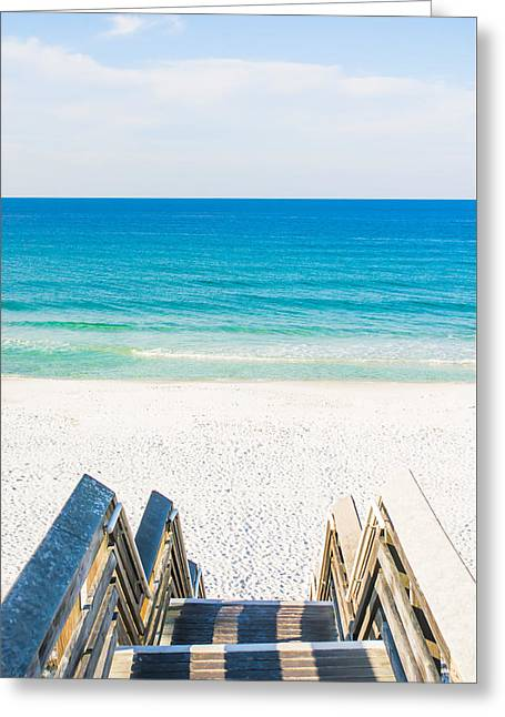 Pathway To The Beach - Seaside, Fl Greeting Card by Shelby Young
