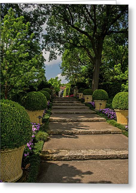Pathway Up To De Golyer House Greeting Card