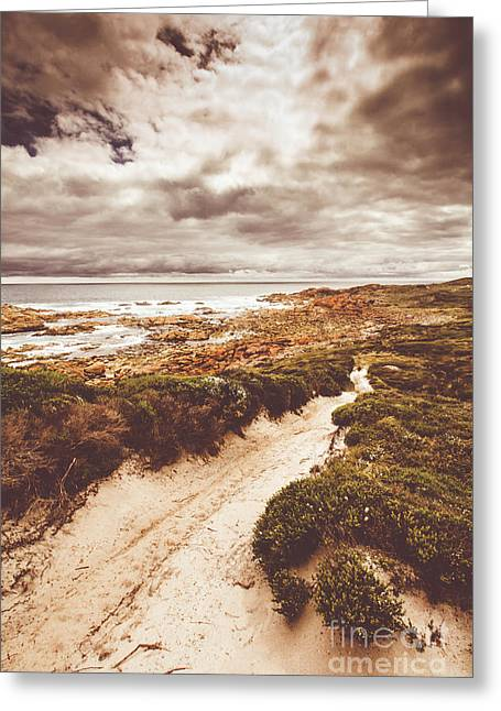 Pathways To Seaside Paradise Greeting Card