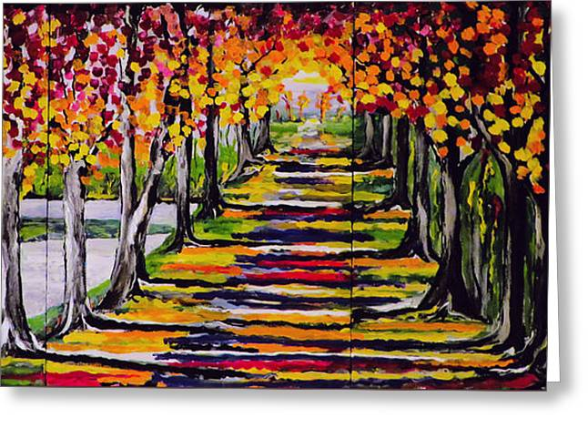 Pathyway To The Light Greeting Card by Kathleen Sartoris