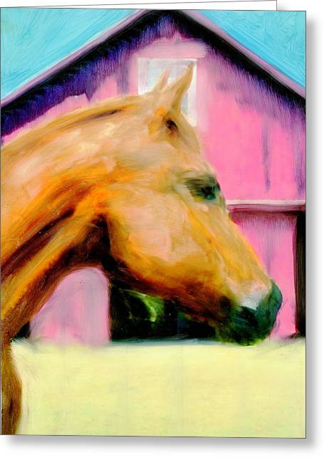 Greeting Card featuring the painting Patience by FeatherStone Studio Julie A Miller