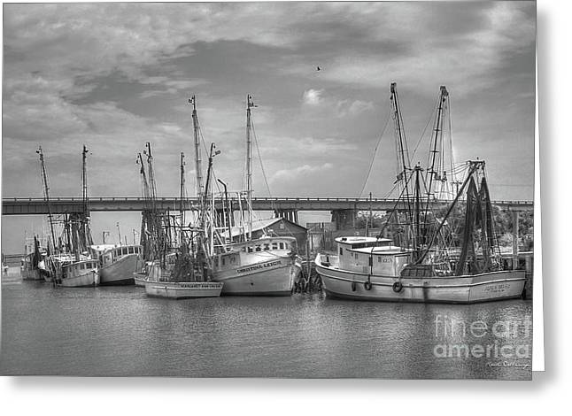 Patience Tybee Island Shrimpers Art Greeting Card