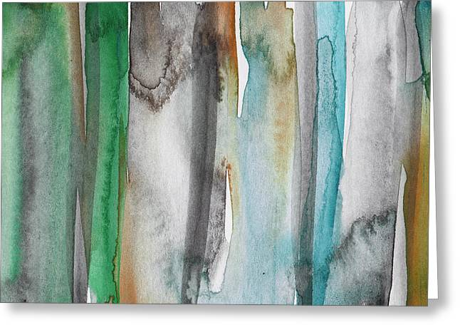Patina- Abstract Art By Linda Woods Greeting Card