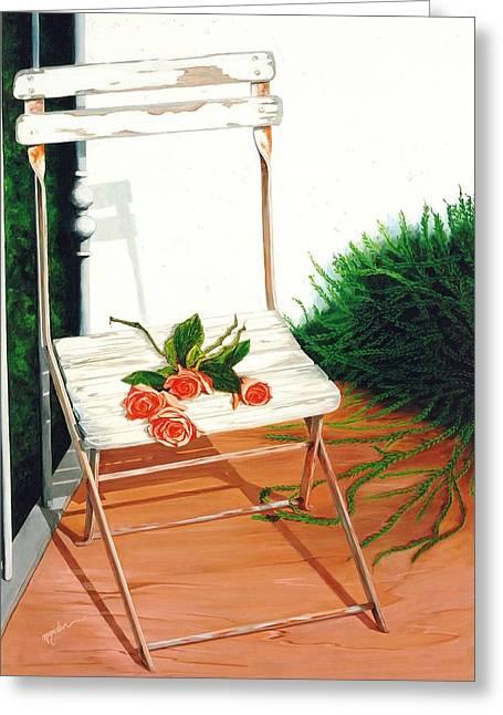 Patio Rose, Prints From Original Oil Paintings Greeting Card