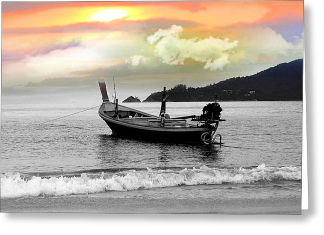Patong Beach Greeting Card by Mark Ashkenazi