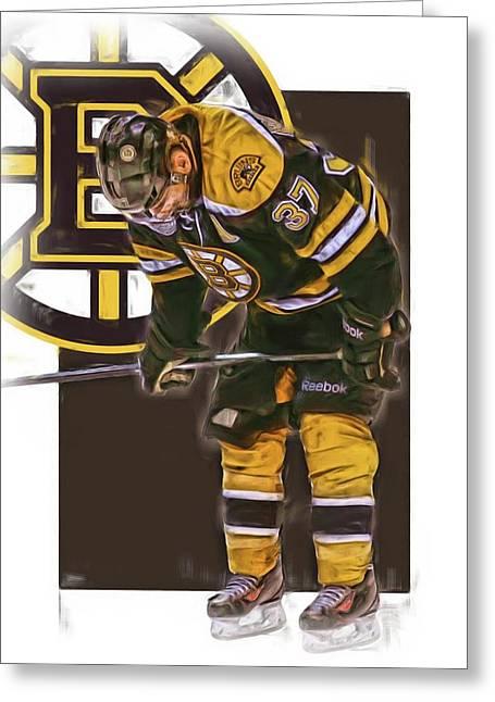 Patrice Bergeron Boston Bruins Oil Art 2 Greeting Card