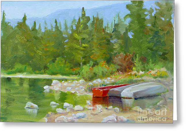 Patricia Lake, Jasper Greeting Card