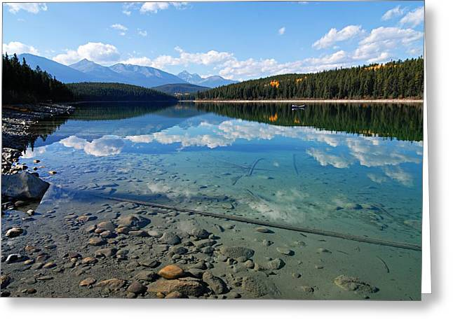 Patricia Lake Greeting Card by Larry Ricker