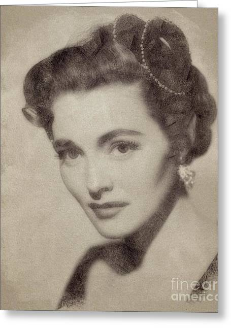 Patricia Neal, Vintage Actress By John Springfield Greeting Card