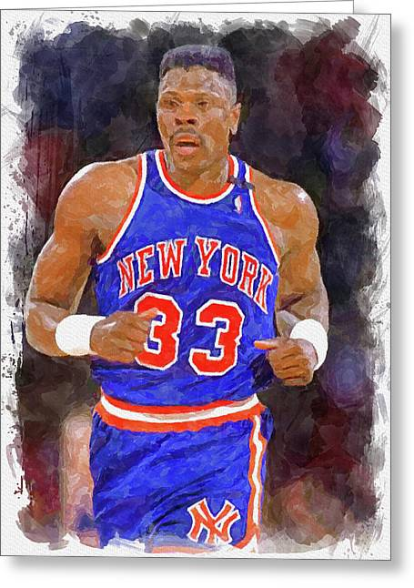 Patrick Ewing Paint Greeting Card