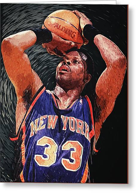 Patrick Ewing Greeting Card by Taylan Apukovska