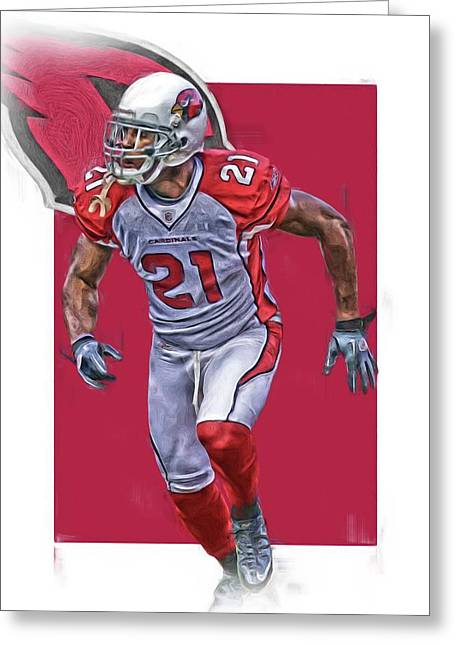 Patrick Peterson Arizona Cardinals Oil Art Greeting Card
