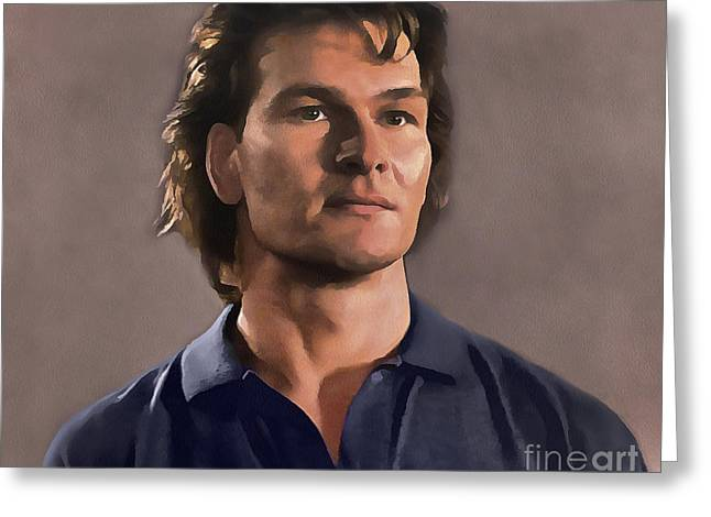 Patrick Swayze Greeting Card