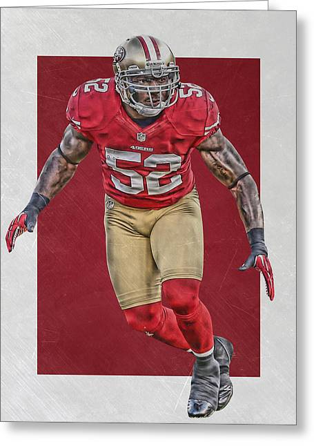Patrick Willis San Francisco 49ers Art Greeting Card by Joe Hamilton