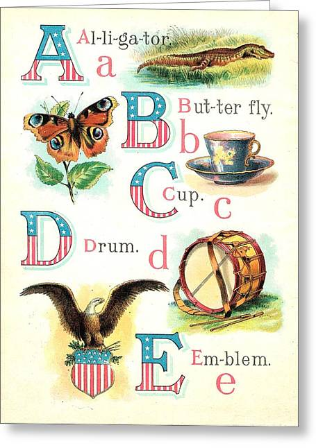 Patriot  Abc Book Page 3 Greeting Card by Reynold Jay