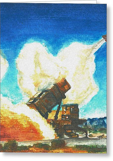 Patriot Fire Greeting Card by Erin Smith
