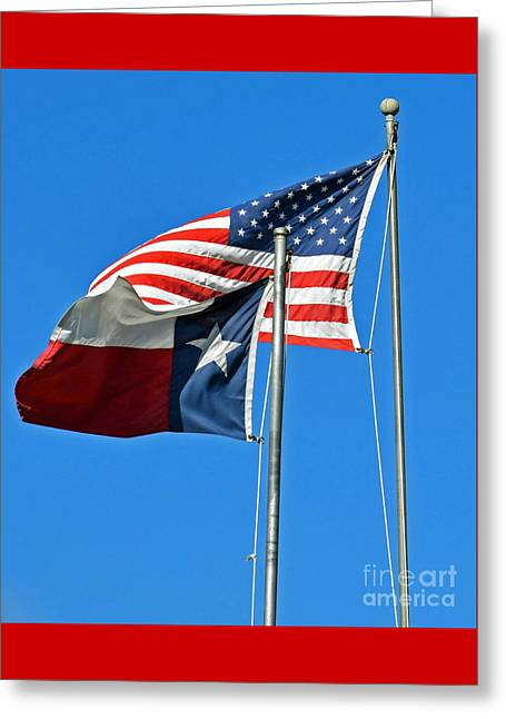 Patriot Proud Texan  Greeting Card