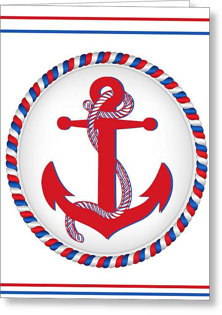 Patriotic Anchor Greeting Card