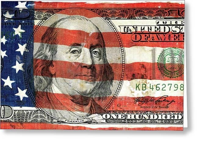 Patriotic Benjamin Greeting Card