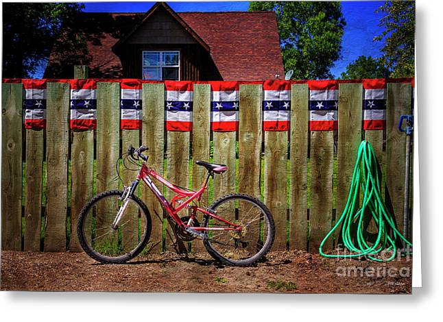 Greeting Card featuring the photograph Patriotic Bicycle by Craig J Satterlee