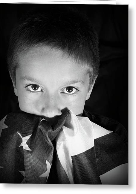 Patriotic Boy Greeting Card