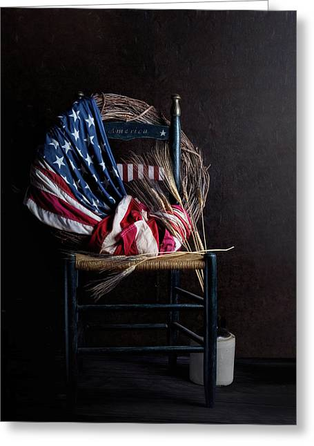 Patriotic Decor Greeting Card