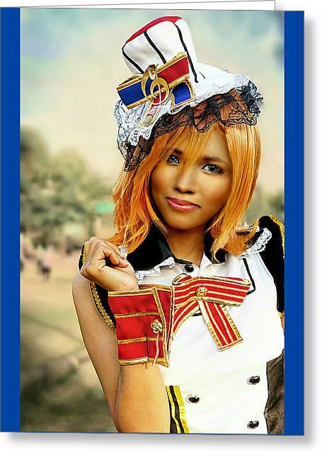 Patriotic Fashion Girl Greeting Card
