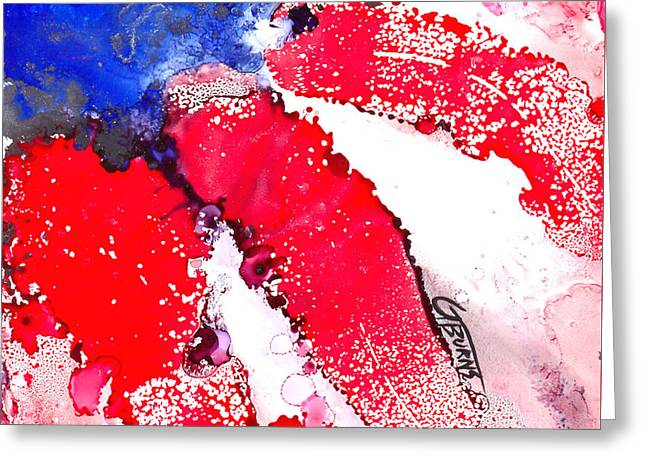 Patriotic Flag Abstract  Greeting Card by GG Burns