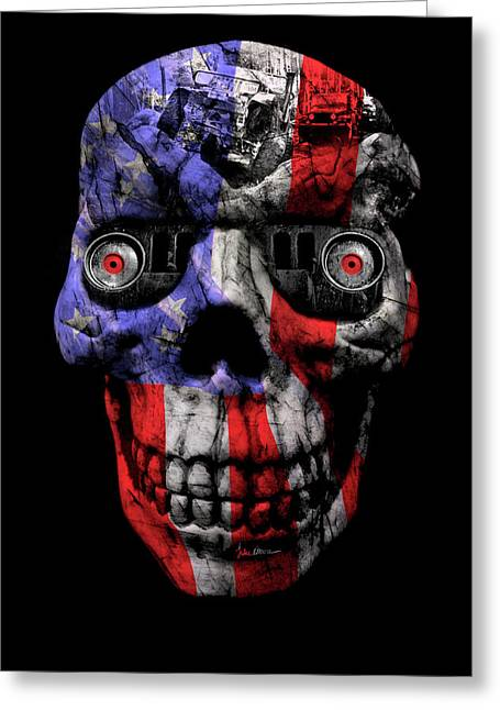 Patriotic Jeeper Cyborg No. 1 Greeting Card