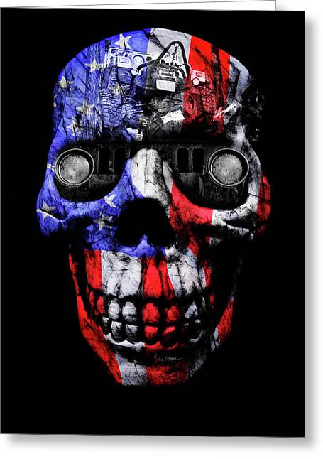 Patriotic Jeeper Cyborg Tj Wrangler No Red Eyes Greeting Card