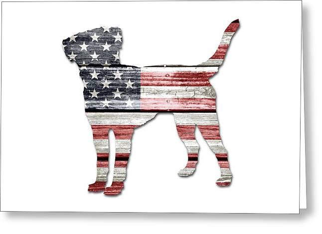 Patriotic Labrador Retriever Greeting Card