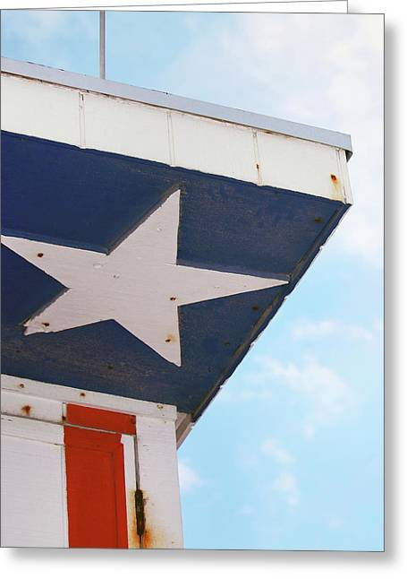 Patriotic Lifeguard Tower Greeting Card