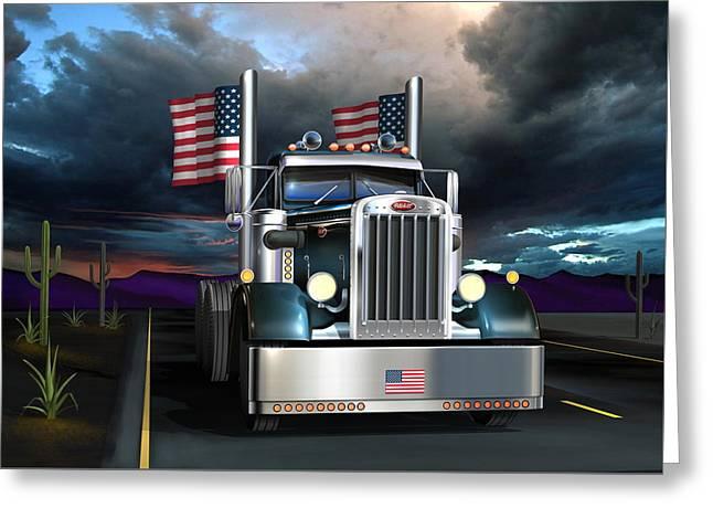 Patriotic Pete Greeting Card by Stuart Swartz