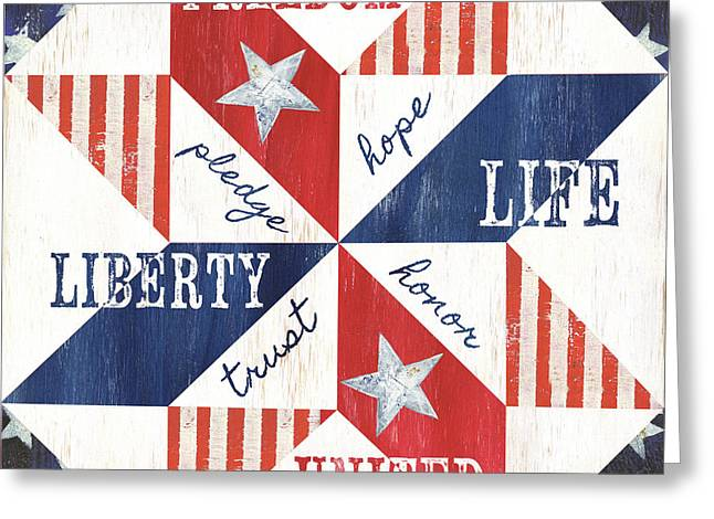 Patriotic Quilt 1 Greeting Card
