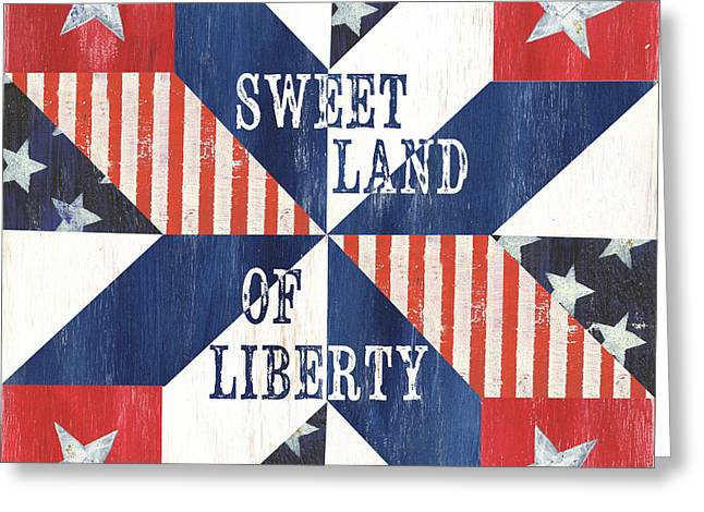 Patriotic Quilt 3 Greeting Card by Debbie DeWitt
