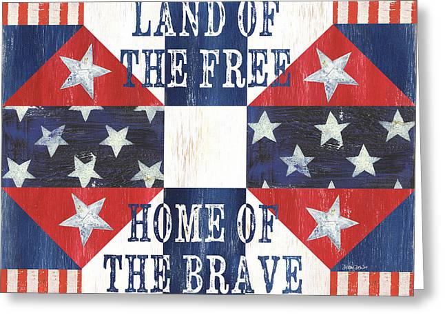 Patriotic Quilt 4 Greeting Card by Debbie DeWitt