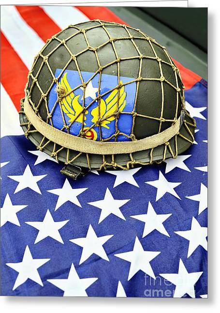Patriotic Greeting Card by Richard Allen