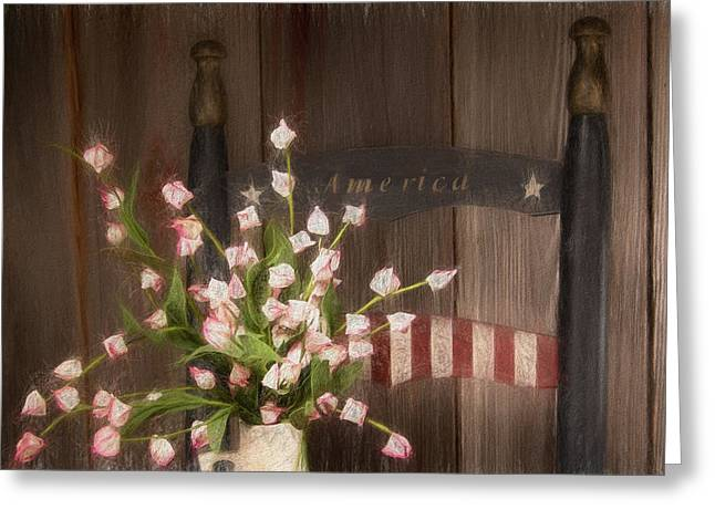 Patriotic Seating Greeting Card