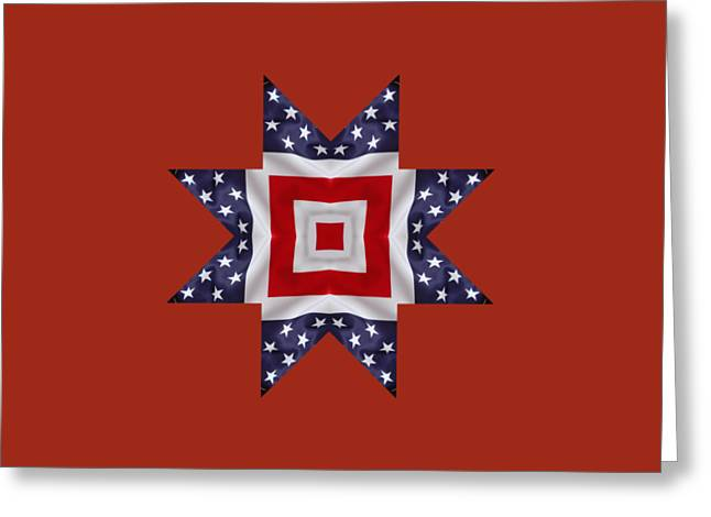 Patriotic Star 1 - Transparent Background Greeting Card by Jeff Kolker