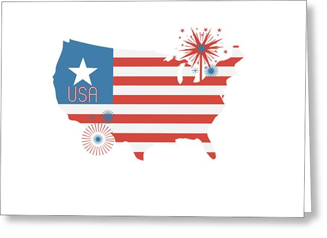Patriotic Usa Greeting Card by Chastity Hoff