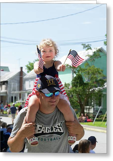 Patriotism-3 Greeting Card by Robert Kruger