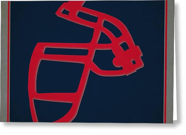 Patriots Face Mask Greeting Card by Joe Hamilton