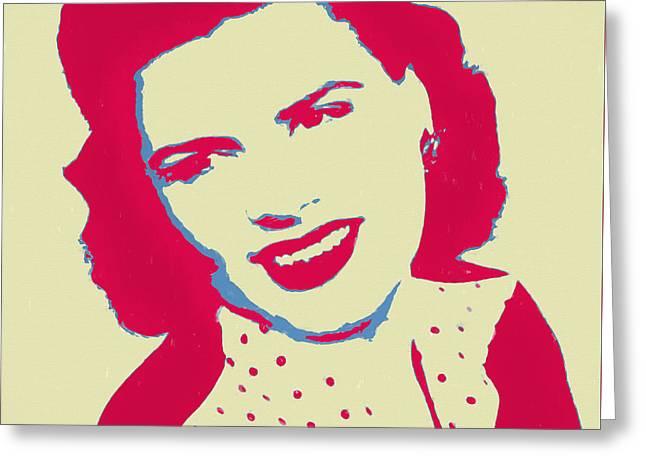 Patsy Cline Pop Art Greeting Card