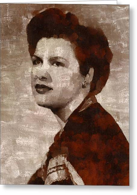 Patsy Cline, Singer Greeting Card