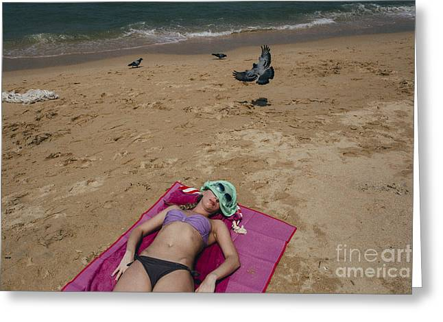 Greeting Card featuring the photograph Pattaya Beach by Setsiri Silapasuwanchai