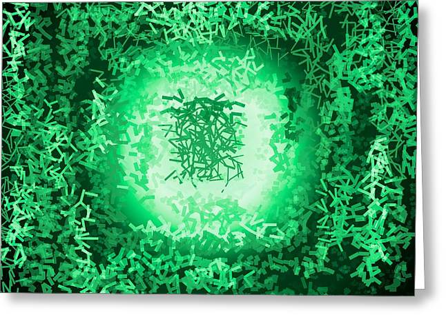 Greeting Card featuring the digital art Pattern 199 by Marko Sabotin