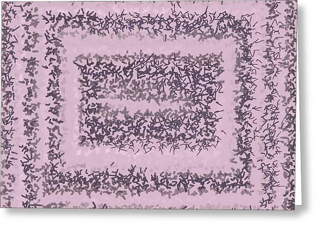 Greeting Card featuring the digital art Pattern 200 by Marko Sabotin