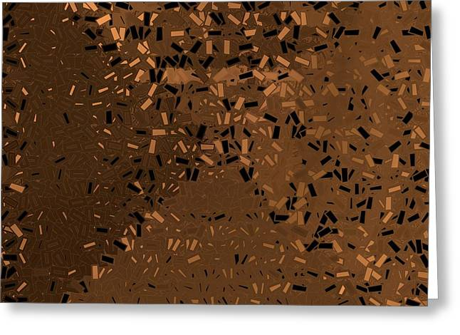 Greeting Card featuring the digital art Pattern 204 by Marko Sabotin
